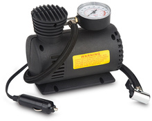 12V 250psi portable mini plastic car tire inflator pump