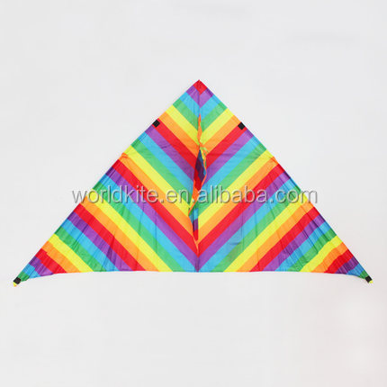 Colorful stripe delta shape nylon kite