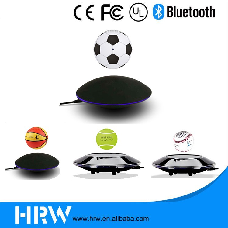 HRW 2016 New Creative fanshionable football/basketball/tennis/golf floating graviton-powered levitating bluetooth speaker