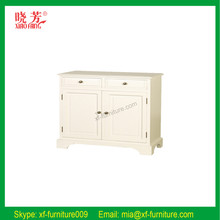 China supplier newest solid wood oak home furniture white nightstand