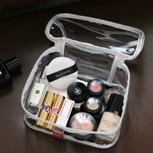 Waterproof PVC Cosmetic Makeup Beach Travel Handbag for Women Shopping Jelly Candy Tote Bag With Ziplock