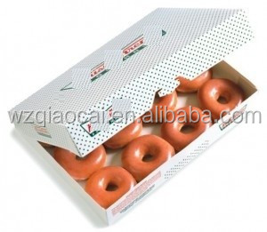 creative paper donut packaging box without glue assemble full color