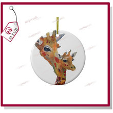 white blank popular sublimation ceramic ornament