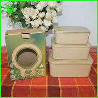 3 Set Biodegradable Microwave Food Container