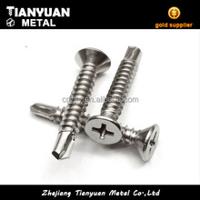 m10 flat head hot dip galvanized decorative self drilling screw
