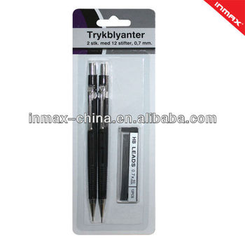 Plastic mechanical pencil set