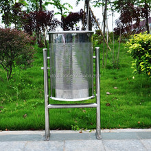 stainless steel dustbin perforated, stainless steel trash bin, stainless steel waste bin