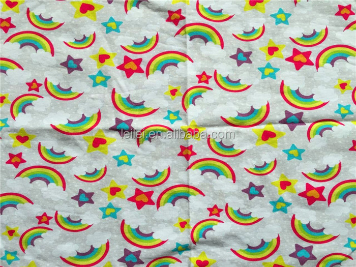 95 cotton 5 spandex cotton jersey knit fabric for kids for Kids apparel fabric