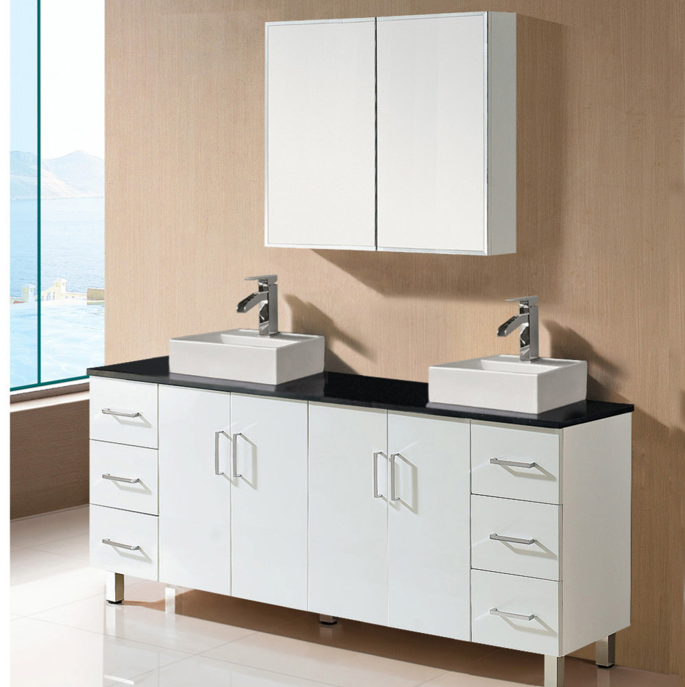 Whosale Factory Price China Cheap Modern Double Sink Bathroom Vanity ...