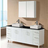 Whosale factory price china cheap modern double sink bathroom vanity