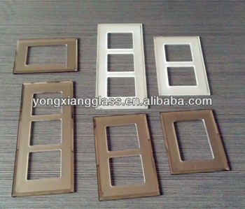 silk screen tempered glass switch frame