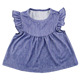 yiwu kaiyo new design children baby clothing denim pearl dress top ruffle cute lovely summer tunic