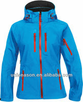 Windproof tad shark skin soft shell jacket for women