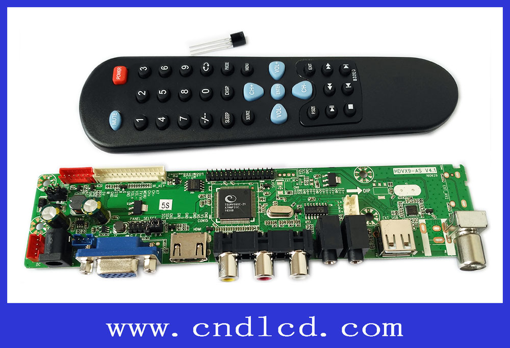 CND HDVX9-AS-5S LED LCD TV Board + IR receiver + Remote control