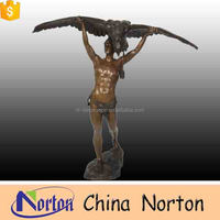 antique animal bronze metal naked man statue NTBH-C715S