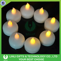 2016 Wholesale White Body Color Changing Led Floating Tealight