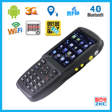 Android OS Rugged Handheld PDA 1d/2d barcode with BT/WIFI/RFID/3G communication