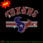 Texans Rhinestone Transfer Wholesale Iron On Hot Fix Motifs
