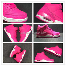 OEM brand high ankle black women basketball shoes pink color