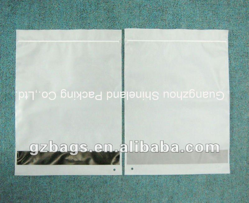 Mailing pouch with self adhesive seal