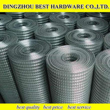 Cheap 3/4'' galvanized welded wire mesh with 0.9mm wire diameter in stock