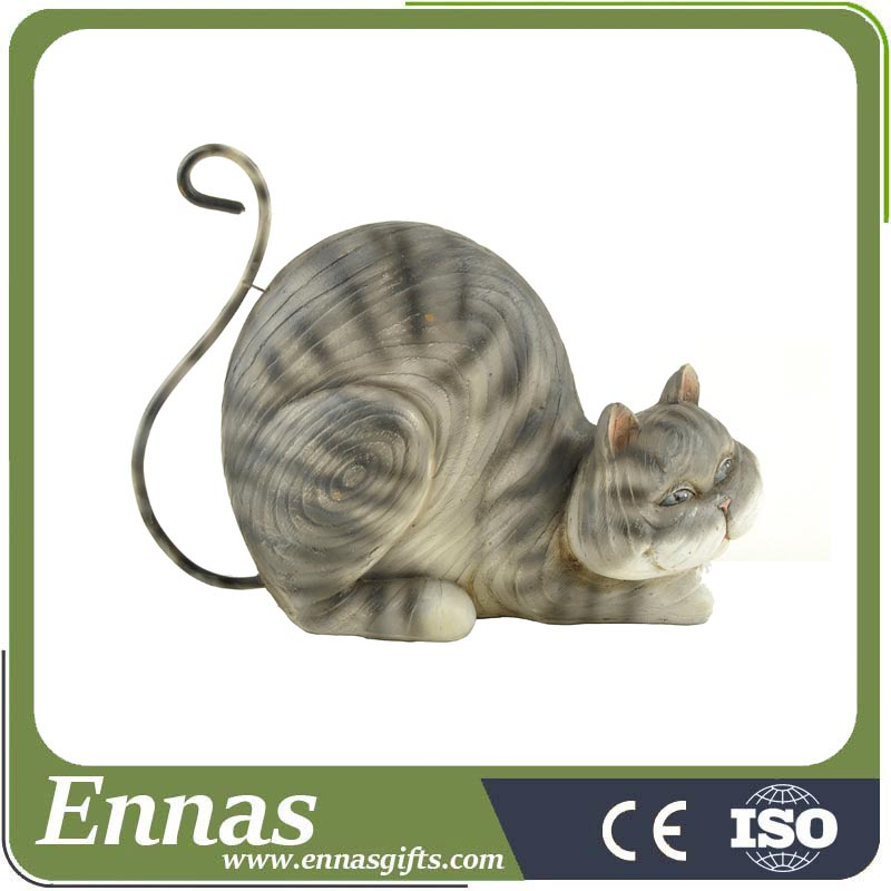 Polyresin cat statue for home decorations