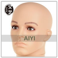 Plastic Male Mannequin Wig Head For Eyelash