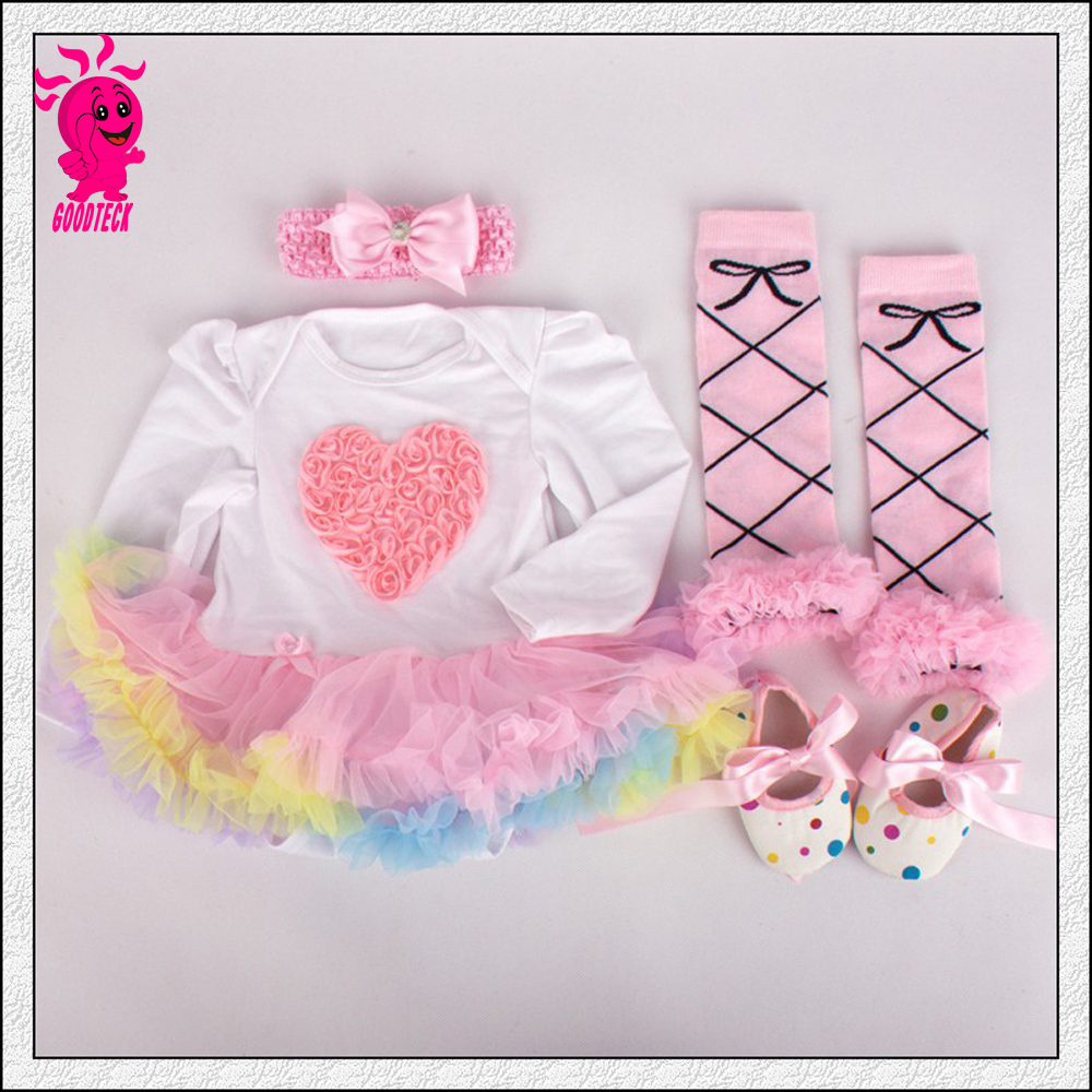 Baby Girl Infant 3pcs Clothing Sets Suit Princess Tutu Romper Dress/Jumpersuit Party Birthday Costumes