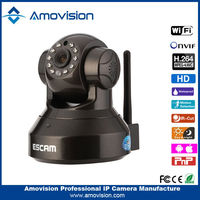 ESCAM Pearl QF100 Support ONVif HD 720P CMOS P2P IR ip camera sd card