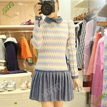Customized stripe soft women dress maker