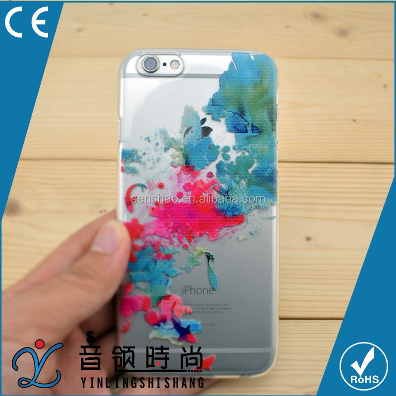 hot selling Custom Printed PC TPU Funky Transparent Cell Cover, ultra thin Mobile Phone Case cover for iPhone 6