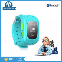 mobile phone 2G SOS panic button tracker kids gps watch with micro SIM card Q50