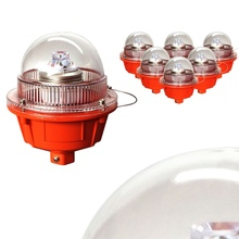 HARFOL LED low intensity red aviation obstruction light/aircraft warning light for telecom tower/chimney/building