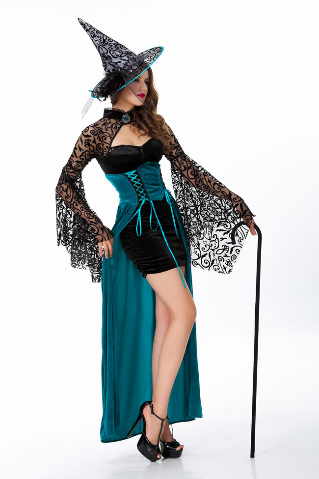 Halloween party Adult Women sex witch cosplay