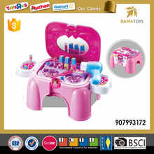 Girls plastic makeup set portable dressing table toy