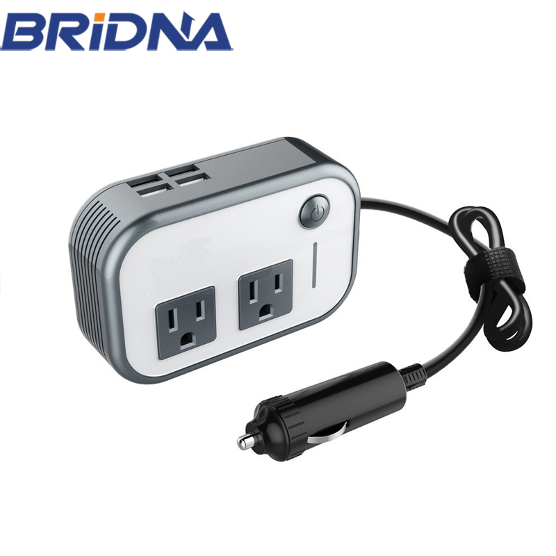 Best supplier 200 watt 12v dc to ac 110v car power inverter with dual us ac socket output