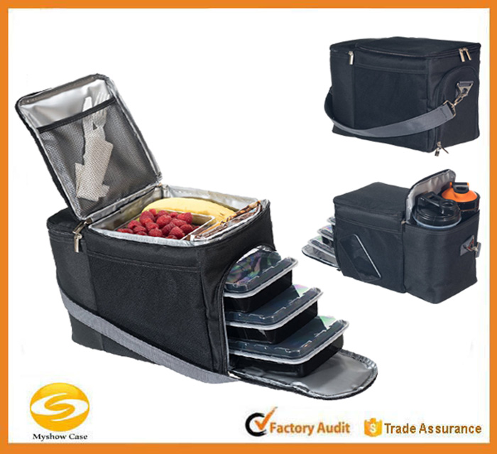 High quality eal Prep Bag with full Meal Management System,custom logo food delivery bag,insulated nylon cooler bag