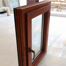 Aluminum wood veneer tilt turn window casement door