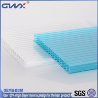 ISO9001:2008 SGS Good Light Transmission Lexan UV-coated 4 Walls Polycarbonate Sheet