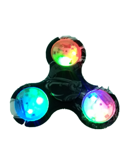 LED Lights Fidget Spinner White Tri-Spinner Fidget Toy Fidgets Hand Spinner For Autism and ADHD Increase Focus Keep Hands Busy