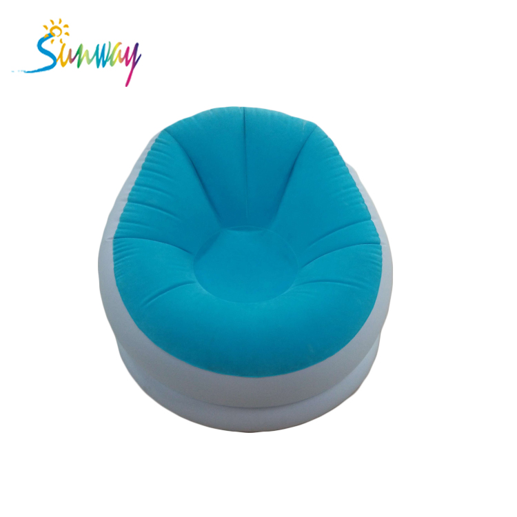 Round Inflatable air lounge sofa bed inflatable Sofa <strong>furniture</strong>
