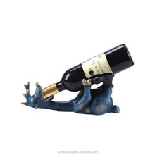 Funny resin blue deer single wine bottle holders