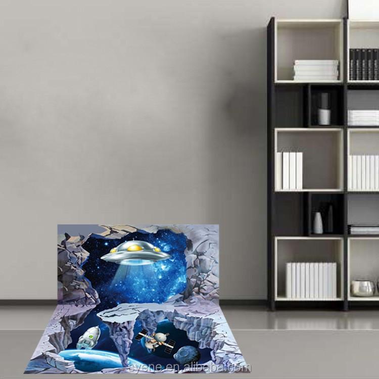 5d home decor pvc wall sticker space man universe for Room decor 5d