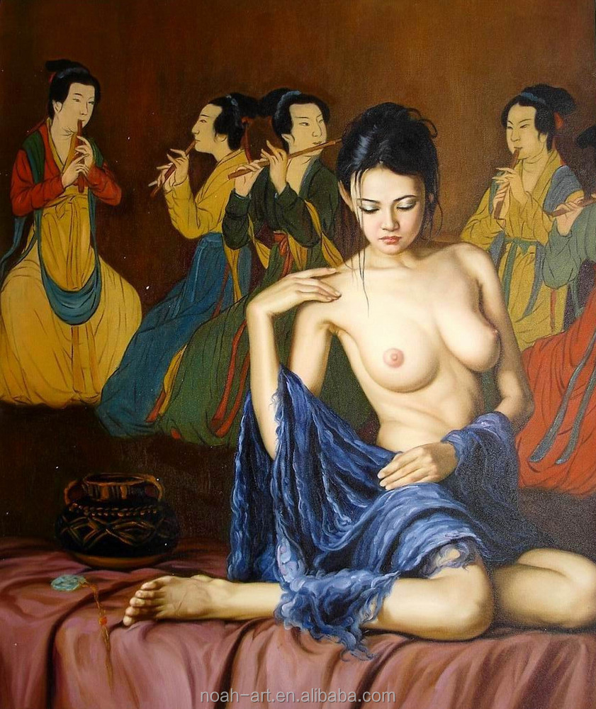 100% High Quality Sexy Nude Girl Chinese Oil Painting