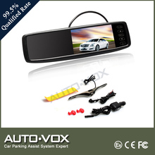 4.3 inch wireless rear view mirror monitor with backup camera system