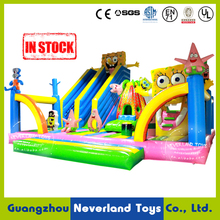 Hot Sale NEVERLAND TOYS Spongebob Inflatable Amusement Park Bouncing Castle Inflatable Slide indoor playground For Kids