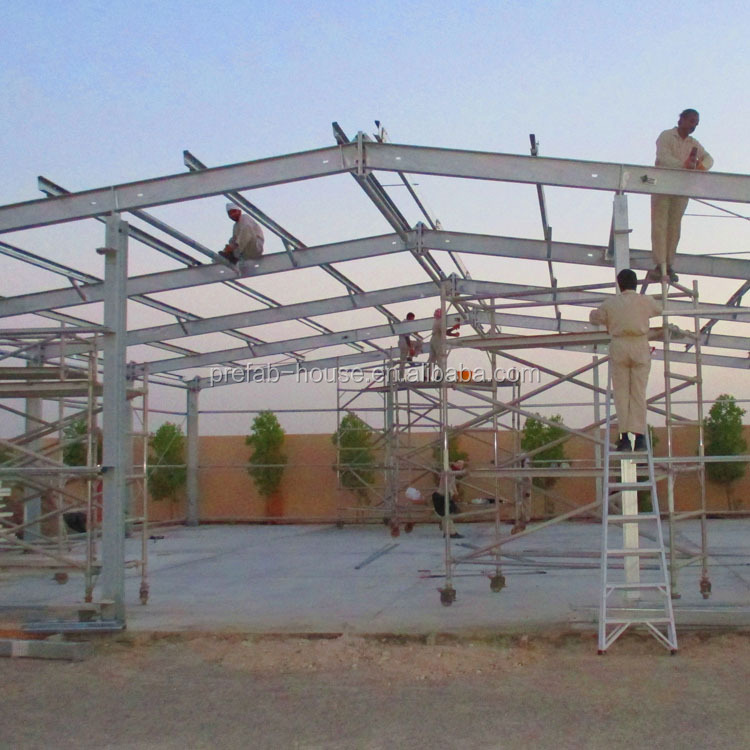 Good quality fabricated steel structures, structural steel in bahrain, badminton hall prefab structure