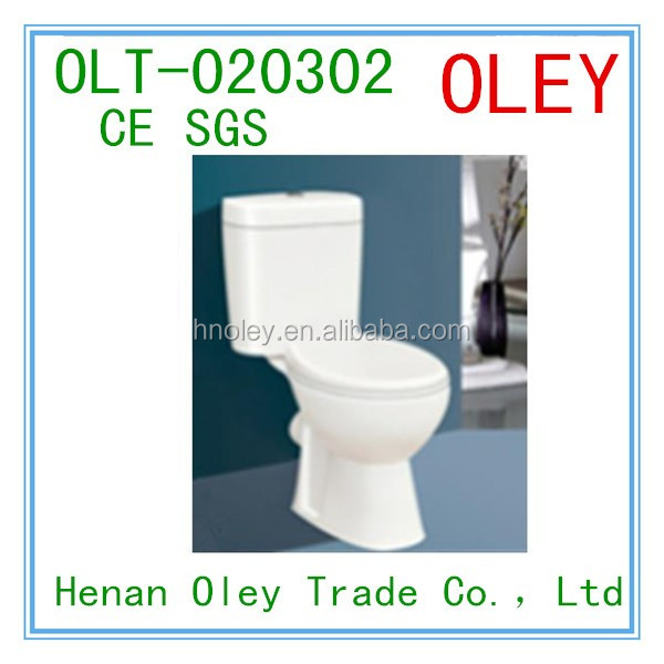 Dual Flush pedestal two piece porcelain Toilet