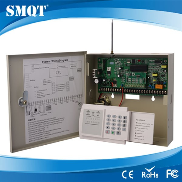 wireless and wired alarm control panels with ABS keypad and box