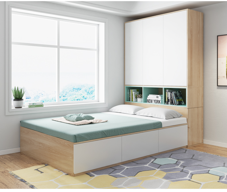 . Modern Simple Design Wooden Single Bed Designs With Storage Boxes And  Cabinet Bedroom Bed Frame   Buy Wooden Box Bed Design Latest Double Bed